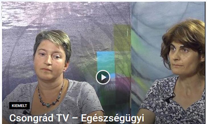 Csongrád Tv – Egészségügyi Magazin (2016.07.19.)