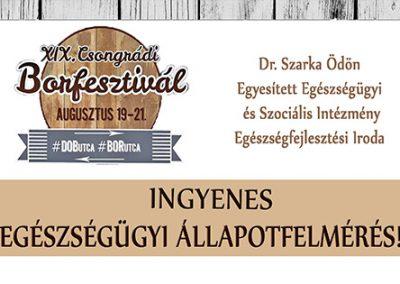 XIX. Csongrádi Borfesztivál - EFI szűrés