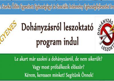 Dohányzásról leszoktató program indul