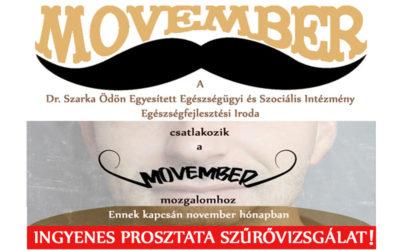 """Szűrővizsgálat a """"Movember"""" – mozgalom kapcsán"""