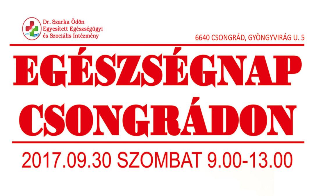 Egészségnap Csongrádon (frissítve!)