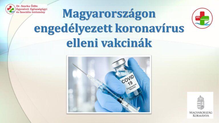 Cikk kép: Magyarországon engedélyezett koronavírus vakcinák