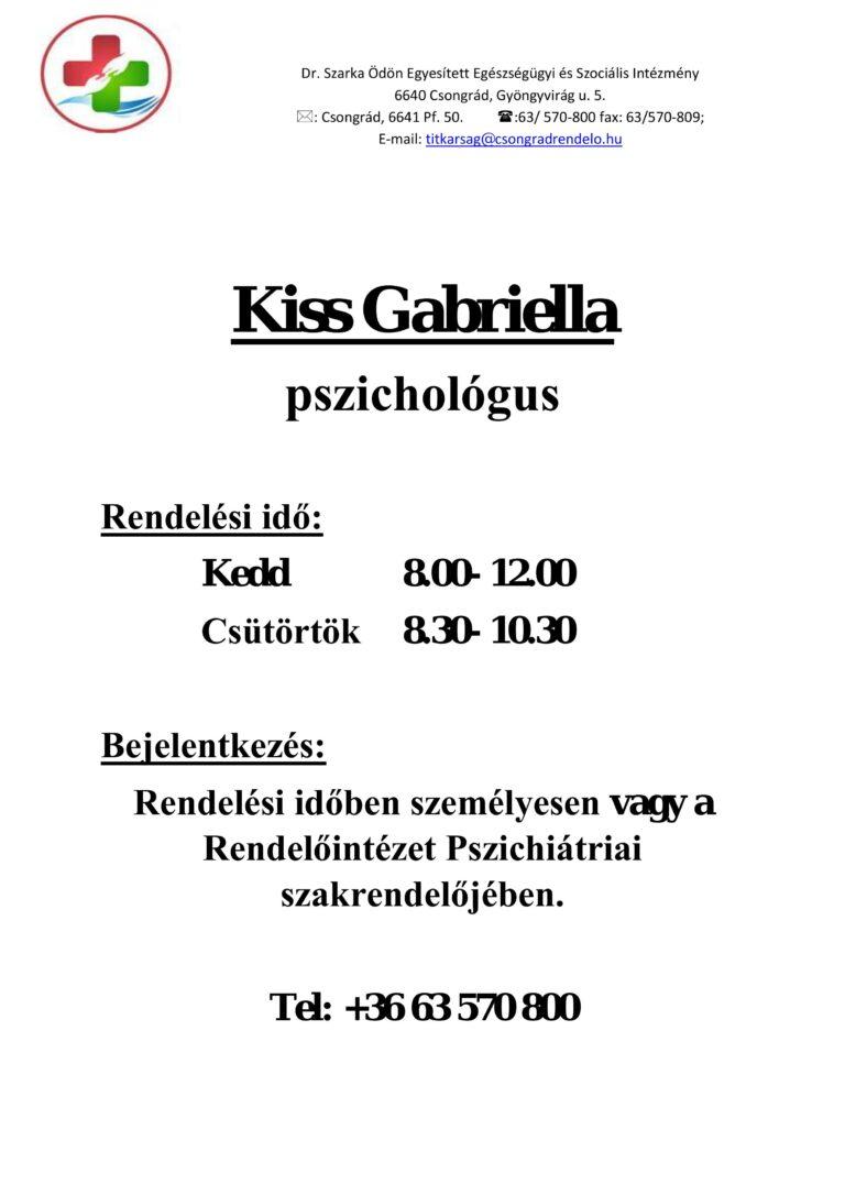 Cikk kép: Kiss Gabriella - pszichológus